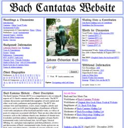 Bach Cantatas Website
