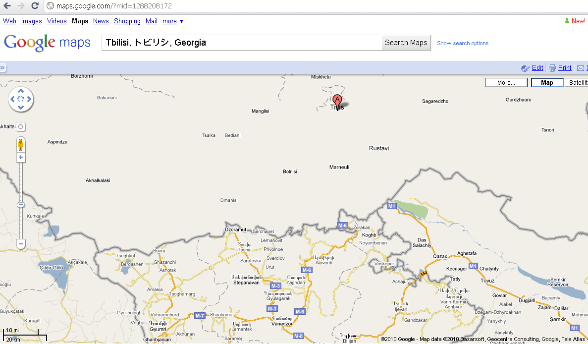 Georgia without details on Google Maps